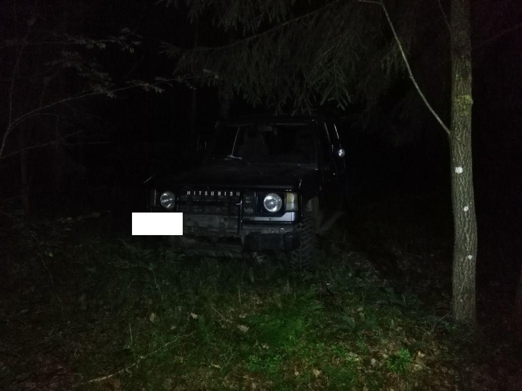 На Волині прикордонники наздогнали автомобіль, з якого порушник викидав телячі туші