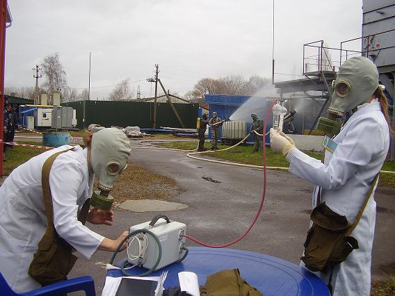 Рятувальники вчились ліквідовувати хімічну аварію