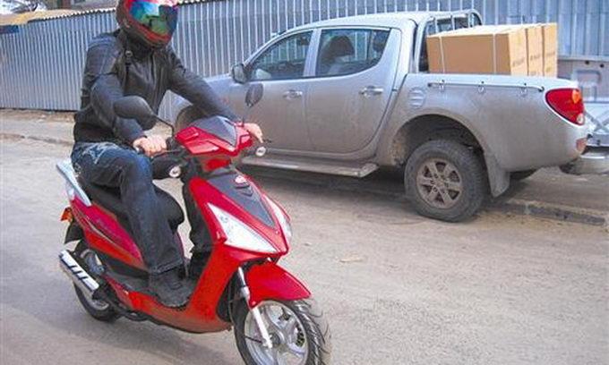 Щоб зареєструвати скутер, тепер треба більше документів