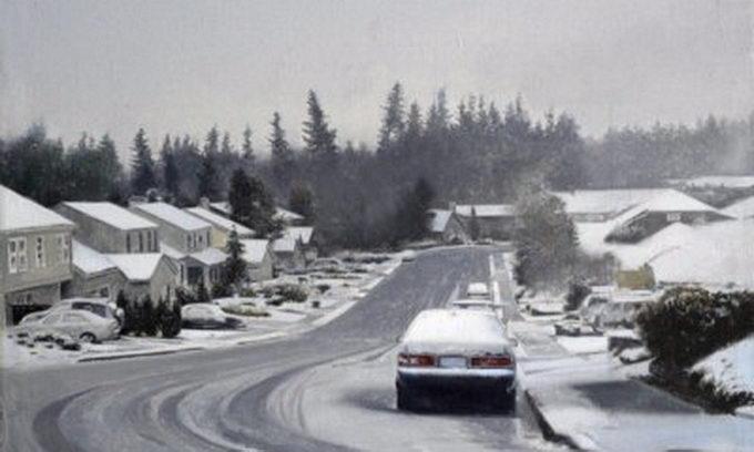 Під час снігопаду водіям важко побачити на дорогах пішоходів