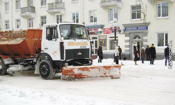 На прибирання снігу витрачають до 15 тисяч гривень щодня