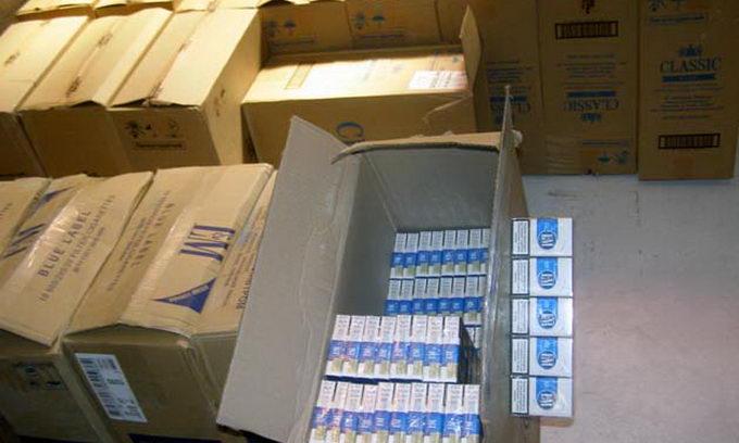 Прикордонники знайшли майже 150 тисяч пачок контрабандних цигарок