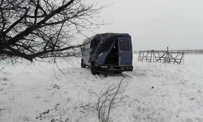 Поблизу Ковеля мікроавтобус з'їхав у кювет