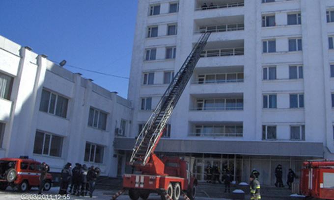 У Луцьку рятувальники приборкали пожежу в одному з найбільших готелів області