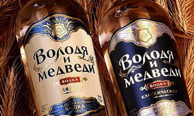Горілка «Володя і ведмеді» шкодить іміджу Росії
