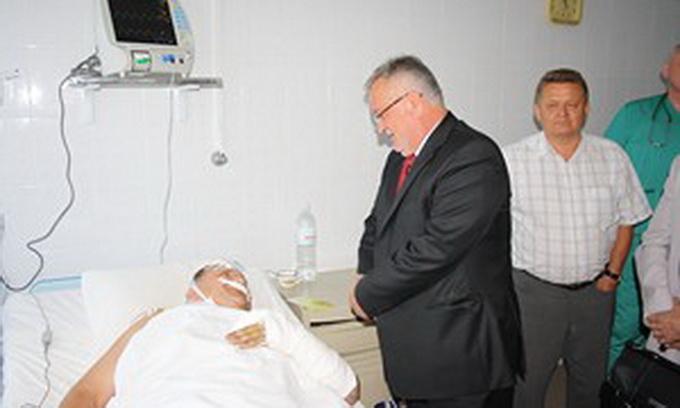 Клімчук у Нововолинську відвідав травмованих шахтарів