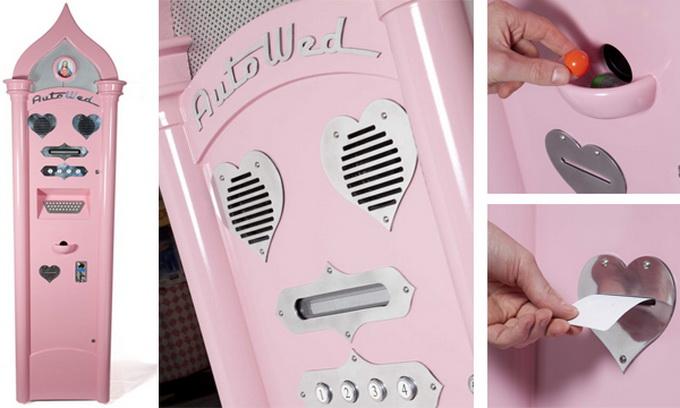 У Британії закоханих одружує рожевий автомат