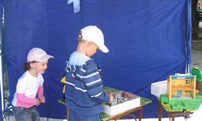 У Луцьку для дітей відкрили читальню просто неба