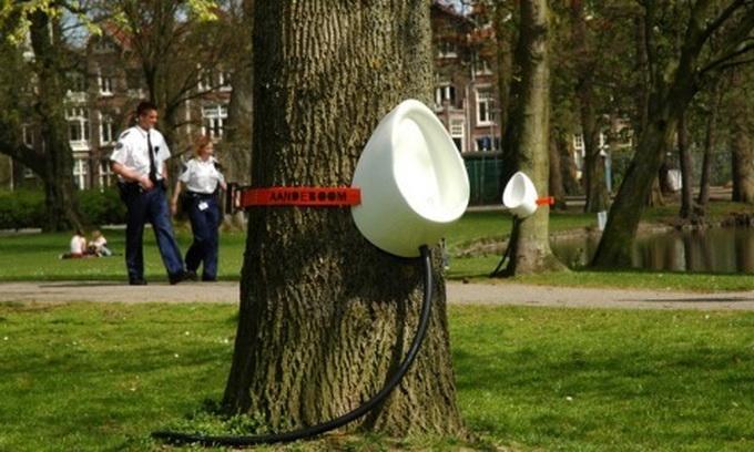В Данії встановили пісуари на деревах