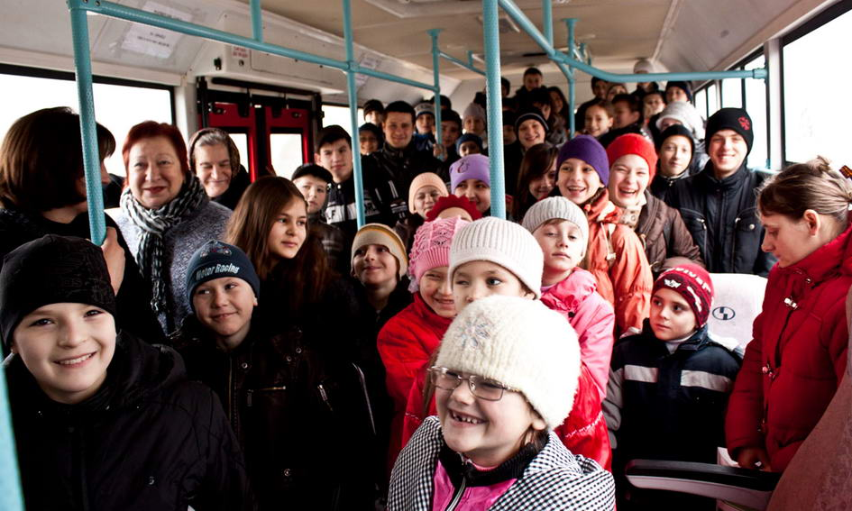 У Луцьку дітям-інвалідам подарували автобус