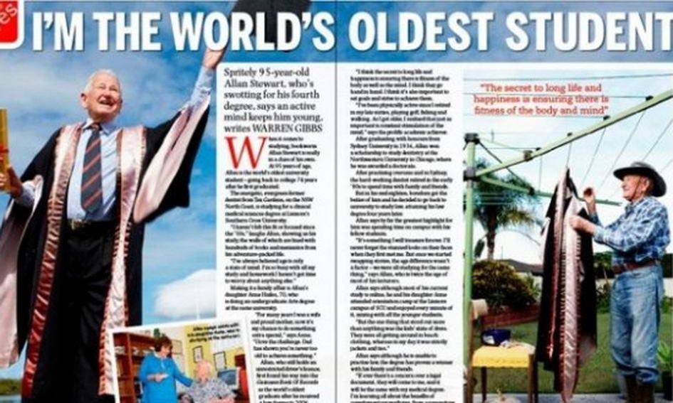 97-річний австралієць став найстаршим випускником у світі