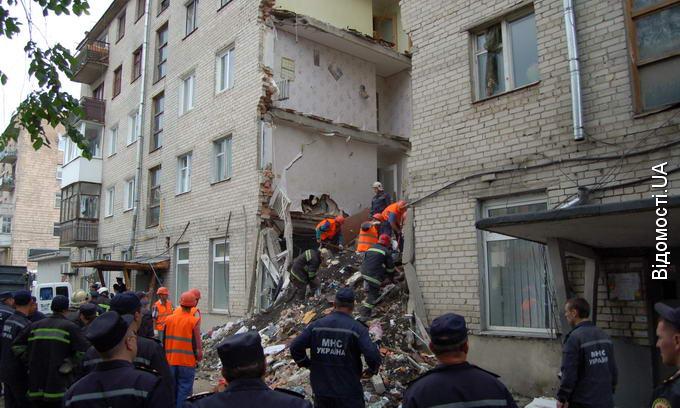 У Луцьку обвалився житловий будинок