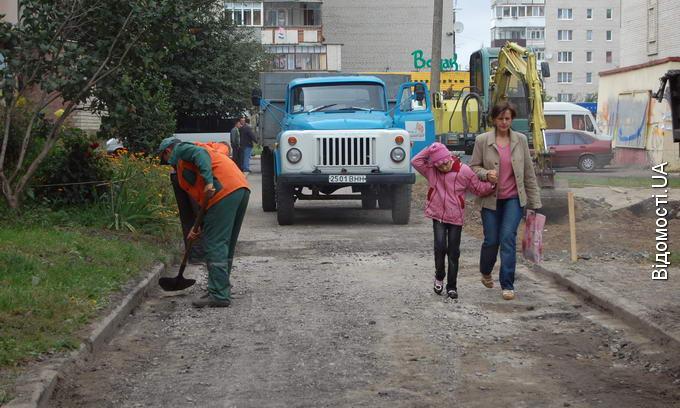 В Луцьку продовжують ремонтувати дворові території