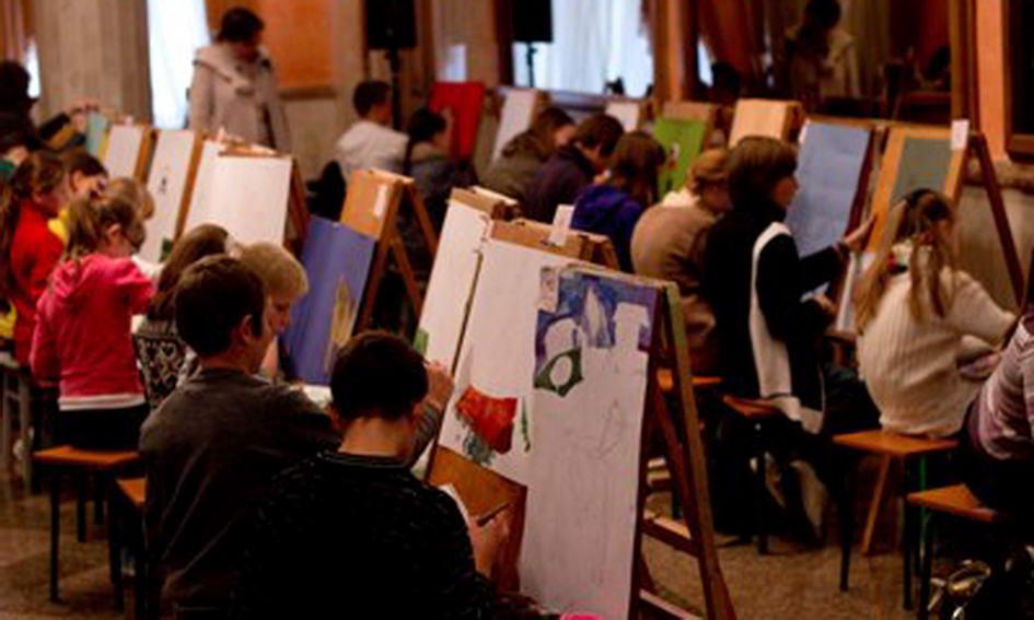У Луцьку 50 художників дві години малювали на тему УПА і козацтва