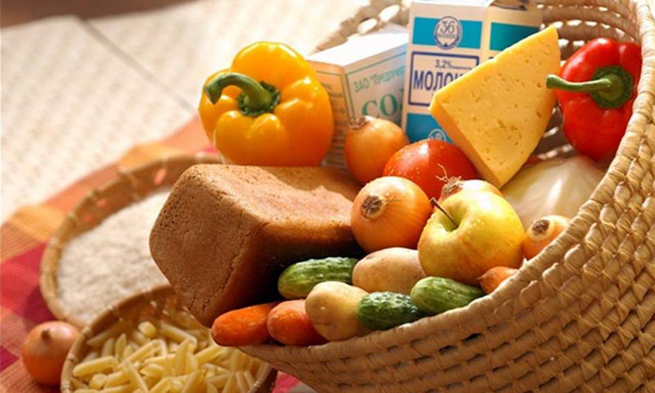 Вартість продуктів споживчого кошика зменшилася на 5,5%