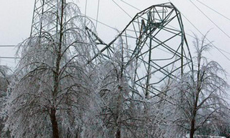 В МНС попереджають про обледеніння проїжджої частини і ліній електропередач