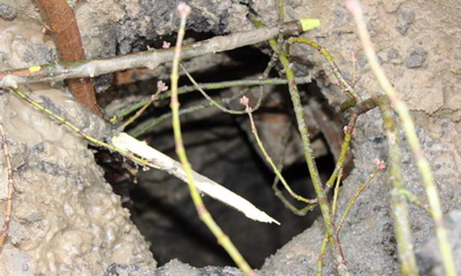 На Замковій площі у Луцьку утворилося провалля в підземний хід