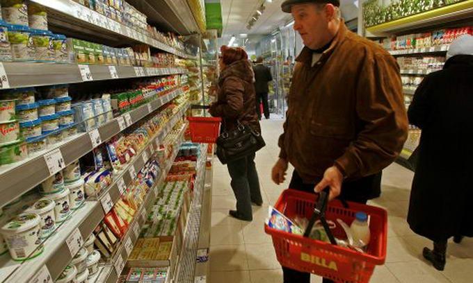 Продукти харчування подешевшали на 3,6%