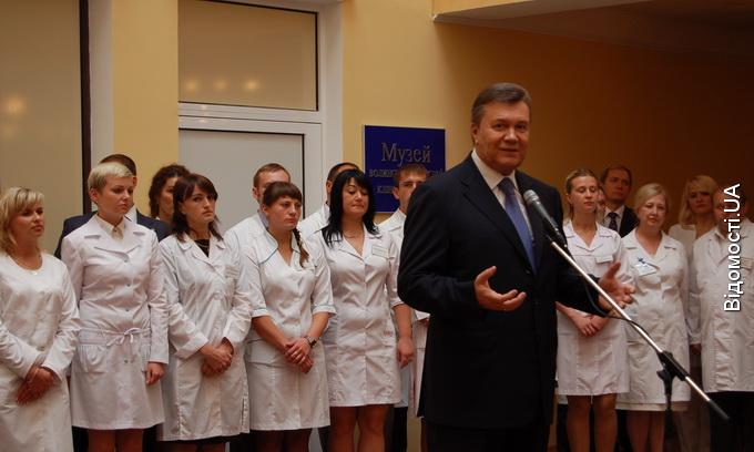Янукович у Луцьку розповів про розвиток України