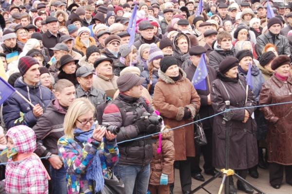 П'ятитисячний луцький Євромайдан виступив за відставку Януковича