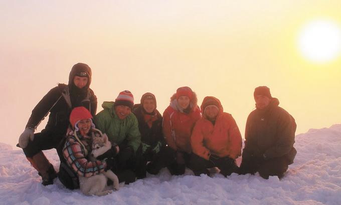 Новий рік зустріли на вершині гори