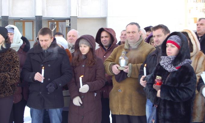 Лучани вшанували пам'ять загиблих у Києві
