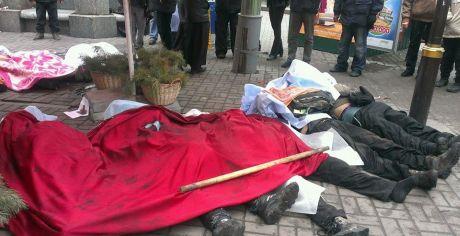 На Майдані лежать семеро загиблих, які померли внаслідок ранкового штурму