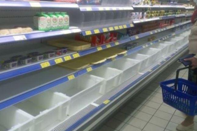 У кримських магазинах закінчилося українське молоко