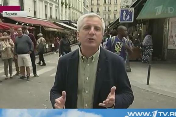 У Парижі темношкірий хлопець із тризубом зіпсував репортаж росіянам (відео)