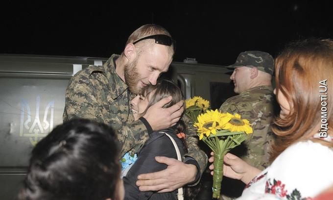 У Луцьку зустріли добровольців, що повернулись із зони АТО