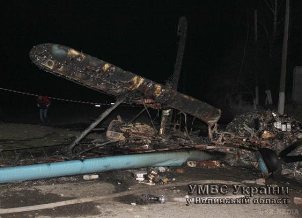 На Волині впав літак, який здійснював несанкціонований політ