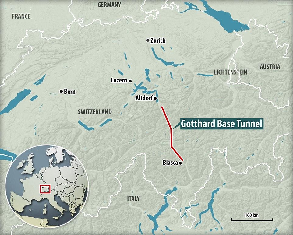 Швейцарія завершує роботу над найдовшим тунелем у світі