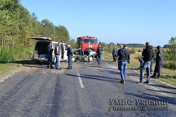 У страшній аварії на Волині двоє людей загинули, ще четверо травмовані