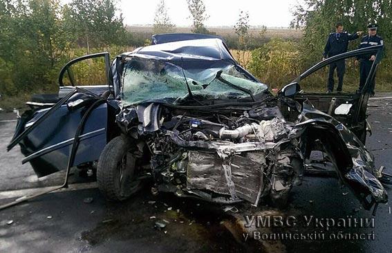 Внаслідок автопригоди на Волині травмувалися п'ятеро людей