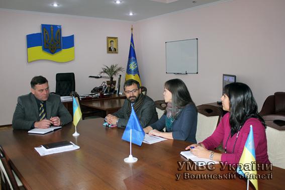 Керівництво Волинської міліції зустрілося з представниками ОБСЄ