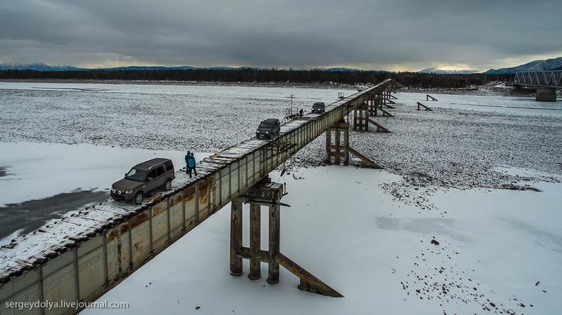Один із найнебезпечніших автомобільних мостів у світі можна побачити в Забайкаллі