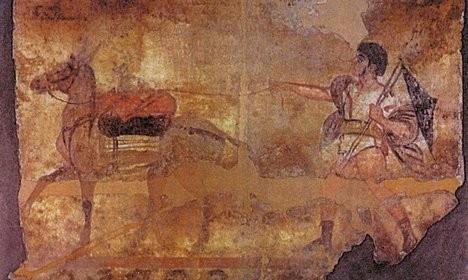 Під римською вулицею знайшли двотисячолітню кімнату з фресками