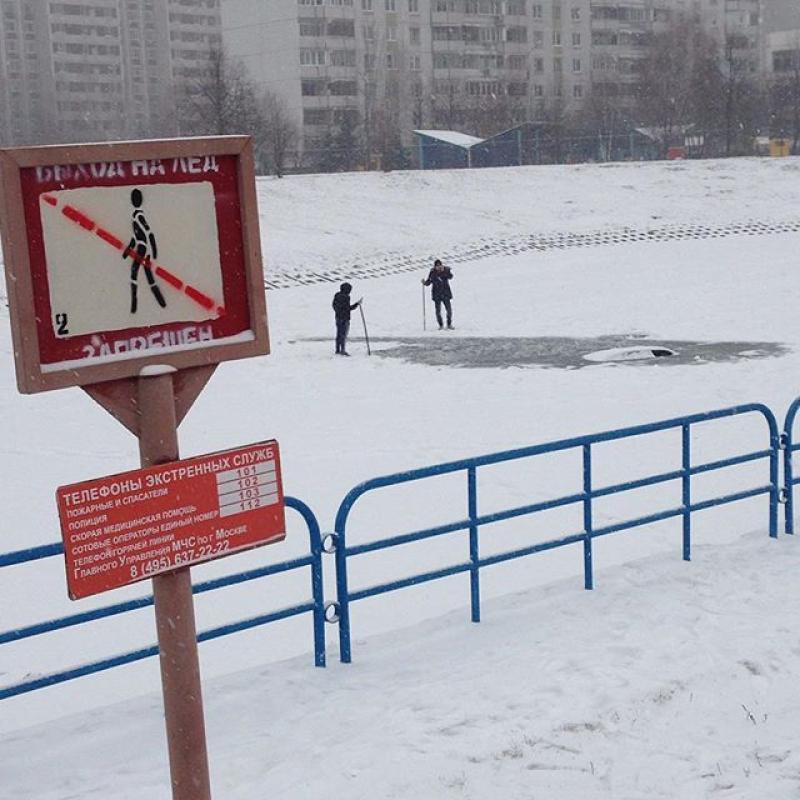 У Зеленограді  в Росії двоє чоловіків на спір втопили у ставку автомобіль