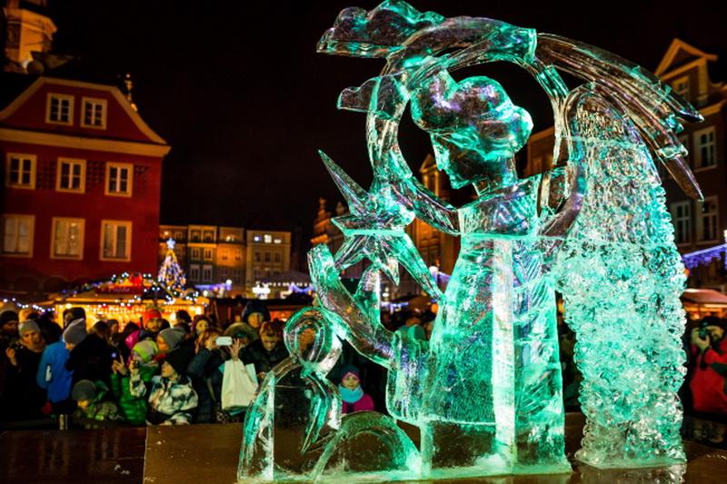 У Познані пройшов найбільший у Європі фестиваль крижаних скульптур