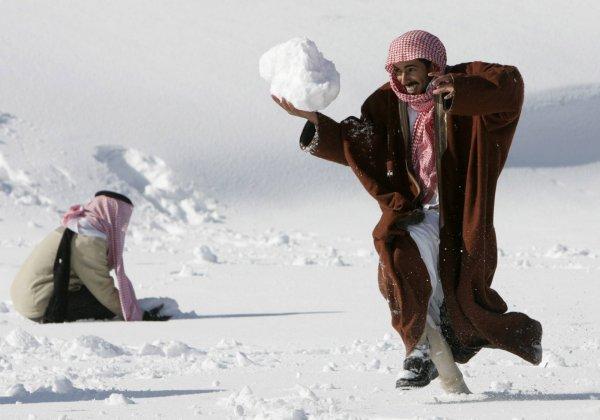 У Кувейті вперше в історії випав сніг