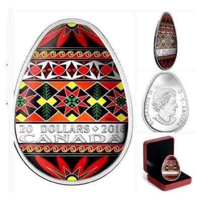 У Канаді випустять монети у формі української писанки