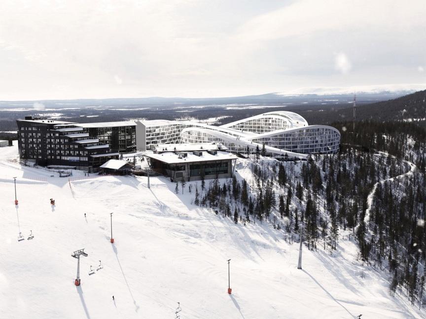У Фінляндії гірськолижники кататимуться по дахах будівель