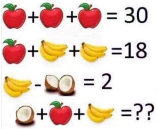 Яблука, банани і кокоси. Завдання з фруктами посварило Інтернет