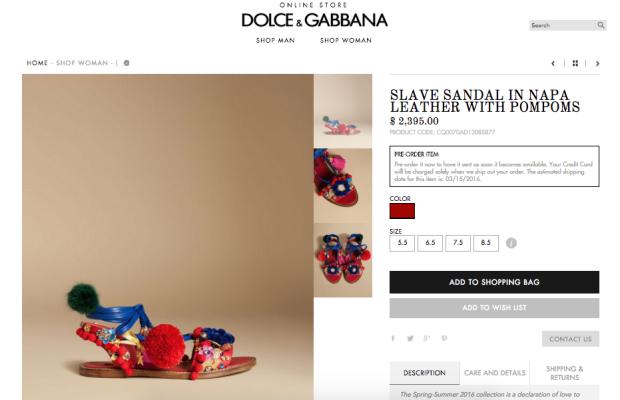 Dolce & Gabbana розкритикували за «сандалі раба»