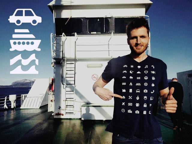 Створено футболку мандрівника з 40-ка іконками, яка може зруйнувати всі мовні бар'єри (фото)