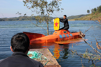 Китайський фермер побудував та запатентував підводний човен власної конструкції