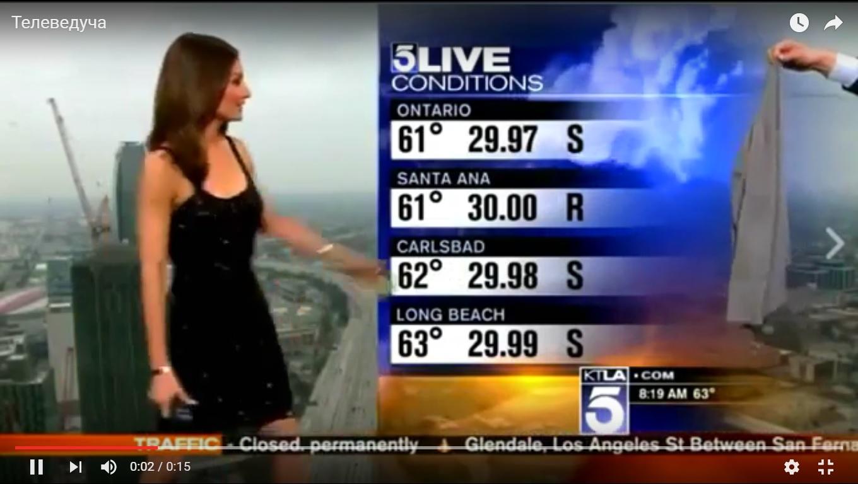 Телеглядачів у США обурила відверта сукня ведучої прогнозу погоди