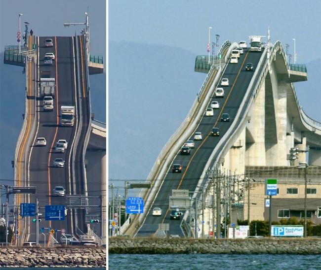 Це не американські гірки, а міст в Японії