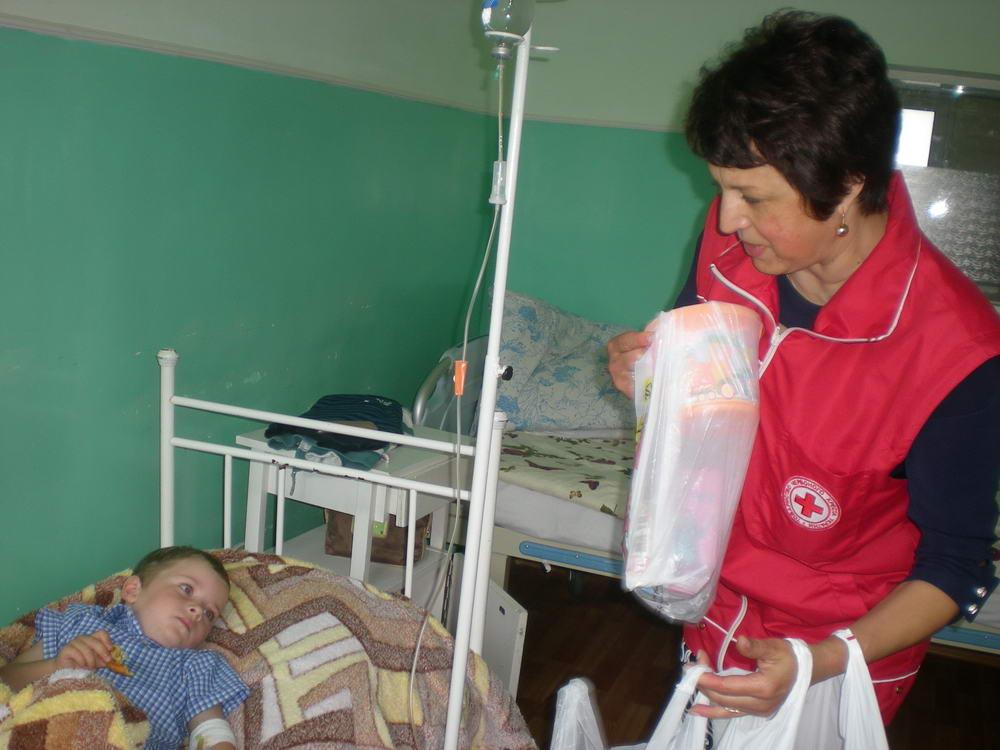 На Волині Червоний хрест провів акцію «Подаруй дитині радість»