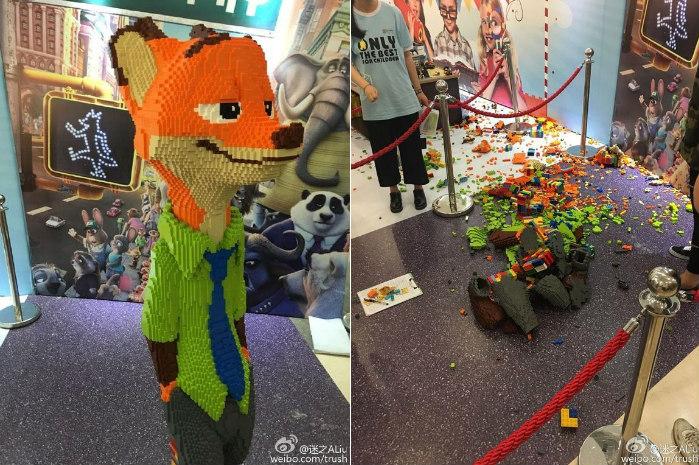 Дитина один ударом зруйнувала скульптуру з LEGO вартістю $ 15 000 (фото)